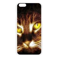 Cat Face Apple Seamless iPhone 6 Plus/6S Plus Case (Transparent)