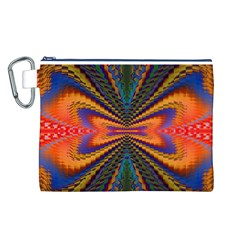 Casanova Abstract Art Colors Cool Druffix Flower Freaky Trippy Canvas Cosmetic Bag (L)