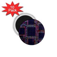 Cad Technology Circuit Board Layout Pattern 1.75  Magnets (10 pack)