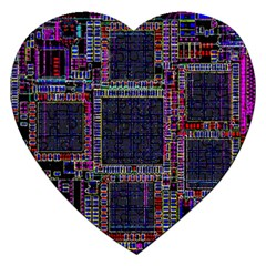 Cad Technology Circuit Board Layout Pattern Jigsaw Puzzle (Heart)