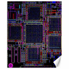 Cad Technology Circuit Board Layout Pattern Canvas 16  x 20