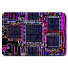 Cad Technology Circuit Board Layout Pattern Large Doormat