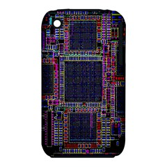 Cad Technology Circuit Board Layout Pattern Apple iPhone 3G/3GS Hardshell Case (PC+Silicone)