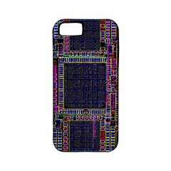 Cad Technology Circuit Board Layout Pattern Apple iPhone 5 Classic Hardshell Case (PC+Silicone)