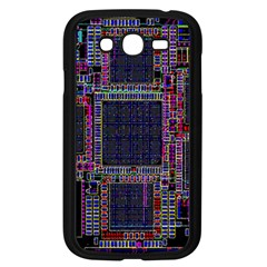 Cad Technology Circuit Board Layout Pattern Samsung Galaxy Grand DUOS I9082 Case (Black)