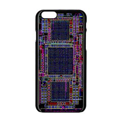 Cad Technology Circuit Board Layout Pattern Apple iPhone 6/6S Black Enamel Case