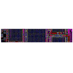 Cad Technology Circuit Board Layout Pattern Flano Scarf (Large)