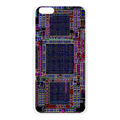 Cad Technology Circuit Board Layout Pattern Apple Seamless iPhone 6 Plus/6S Plus Case (Transparent)