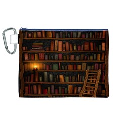 Books Library Canvas Cosmetic Bag (XL)