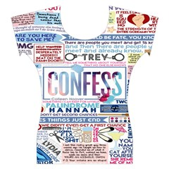 Book Collage Based On Confess Women s Cap Sleeve Top