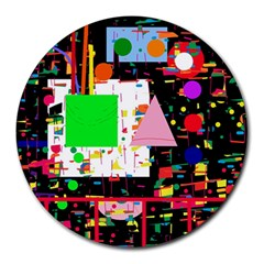 Colorful facroty Round Mousepads