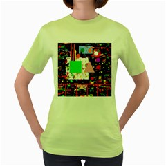 Colorful facroty Women s Green T-Shirt