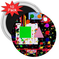 Colorful facroty 3  Magnets (10 pack)