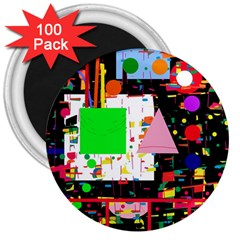 Colorful facroty 3  Magnets (100 pack)