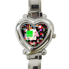 Colorful facroty Heart Italian Charm Watch