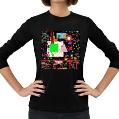 Colorful facroty Women s Long Sleeve Dark T-Shirts