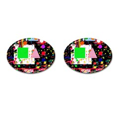 Colorful facroty Cufflinks (Oval)