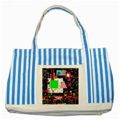 Colorful facroty Striped Blue Tote Bag