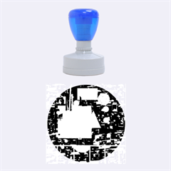 Colorful facroty Rubber Round Stamps (Medium)