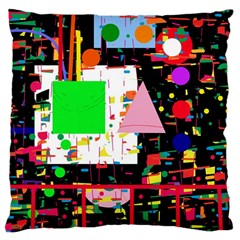 Colorful facroty Large Cushion Case (One Side)