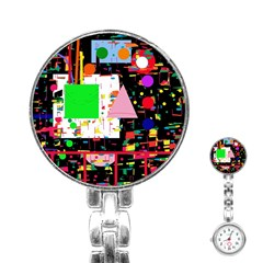 Colorful facroty Stainless Steel Nurses Watch