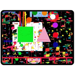 Colorful facroty Double Sided Fleece Blanket (Large)