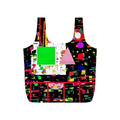 Colorful facroty Full Print Recycle Bags (S)