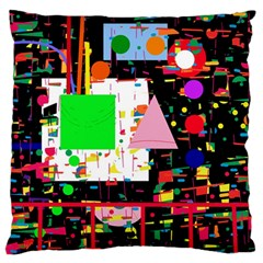Colorful facroty Large Flano Cushion Case (One Side)