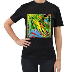 Jungle Women s T-Shirt (Black) (Two Sided)