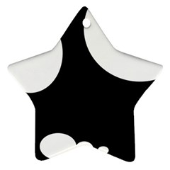 Black and white moonlight Ornament (Star)