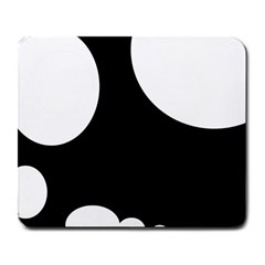 Black and white moonlight Large Mousepads