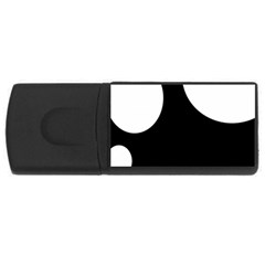 Black and white moonlight USB Flash Drive Rectangular (2 GB)