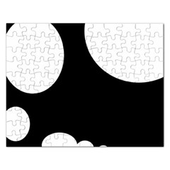 Black and white moonlight Rectangular Jigsaw Puzzl