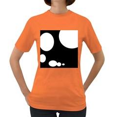 Black and white moonlight Women s Dark T-Shirt