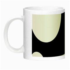 Black and white moonlight Night Luminous Mugs