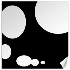 Black and white moonlight Canvas 20  x 20