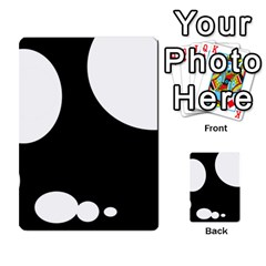 Black and white moonlight Multi-purpose Cards (Rectangle)