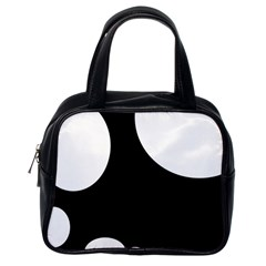 Black and white moonlight Classic Handbags (One Side)