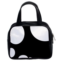 Black and white moonlight Classic Handbags (2 Sides)