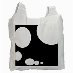Black and white moonlight Recycle Bag (One Side)