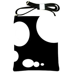 Black and white moonlight Shoulder Sling Bags