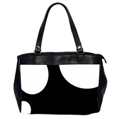 Black and white moonlight Office Handbags (2 Sides)