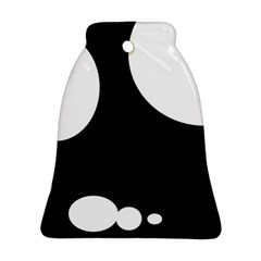 Black and white moonlight Bell Ornament (2 Sides)
