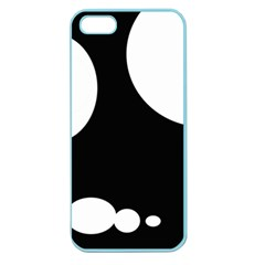 Black and white moonlight Apple Seamless iPhone 5 Case (Color)