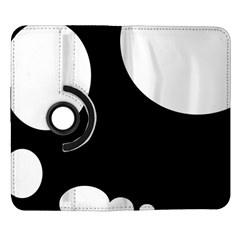 Black and white moonlight Samsung Galaxy Note II Flip 360 Case