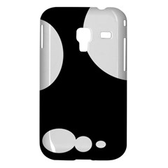 Black and white moonlight Samsung Galaxy Ace Plus S7500 Hardshell Case