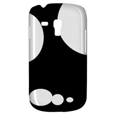 Black and white moonlight Samsung Galaxy S3 MINI I8190 Hardshell Case
