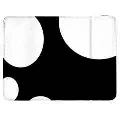 Black and white moonlight Samsung Galaxy Tab 7  P1000 Flip Case