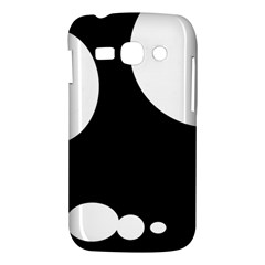 Black and white moonlight Samsung Galaxy Ace 3 S7272 Hardshell Case