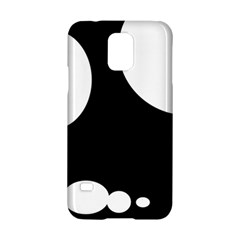 Black and white moonlight Samsung Galaxy S5 Hardshell Case